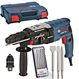 BOSCH Bohrhammer GBH 2-28 F + L-Case + Metabo Meißel Set 3 teilig + Bosch Bohrer-Set 5 teilig 2608576200