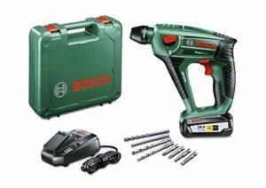 Bosch Uneo Maxx Akku-Bohrhammer 18 V, 2,5 Ah, Bohr-Ø 10 mm Beton, 8 mm Stahl