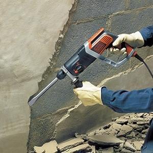 Black & Decker KD990KA 850 Watt pneumatischer SDS-Bohrhammer mit 2.4 Joule, Zweithandgriff, im Koffer, mit Zubehör