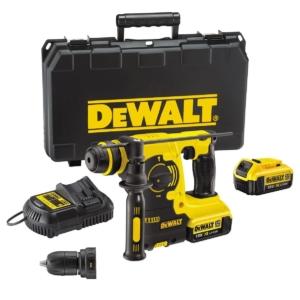 Dewalt DCH254M2-QW Akku-Kombihammer,18,0 Volt,4,0 Ah Li-Ion 400 Watt Bohrhammer Set