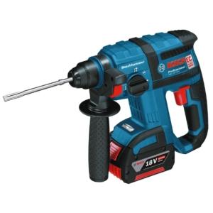 Bosch Professional GBH 18 V-EC Akku Bohrhammer mit SDS-plus, 2x4,0 Ah Akku, EC-Motor, 2,6 kg inkl. Akku, 18 V, L-Boxx