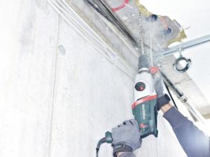 Metabo UHE 2850 Bohrhammer 1.010 Watt 2,8 J 4400 Schläge pro Minute mit sds-plus 2-Gang-Getriebe Kombibohrhammer