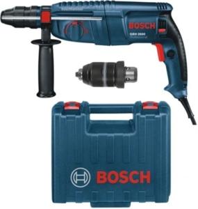 Bosch GBH 2600 Professional Bohrhammer, SDS-plus-Wechselfutter, 13 mm Schnellspannbohrfutter, 720 W, Koffer, 0611254803