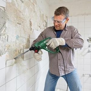 Bosch PBH 2100 RE Bohrhammer mit Tiefenanschlag, Zusatzhandgriff, Koffer (550 W, 20 mm max. Bohr-Ø in Beton)