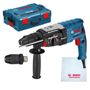 Bosch GBH 2-28 DFV Bohrhammer (SDS-plus-Wechselfutter, 13 mm Schnellspannbohrfutter, bis 28 mm Bohr-Ø, Koffer) 850 Watt 4000 Schläge 3,2 Joule