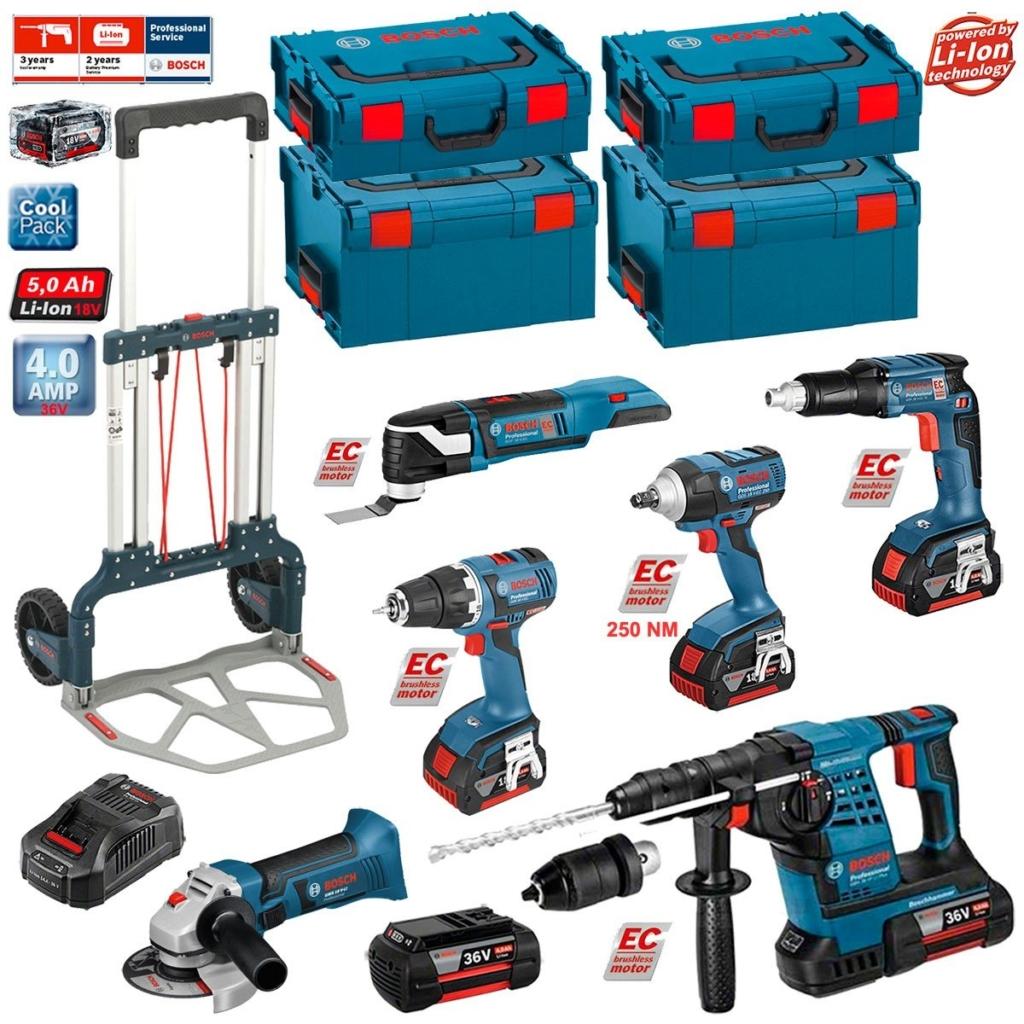 Bosch Bohrhammer mit Akku, Winkelschleifer, Schlagschrauber, Akkuschrauber und mehr